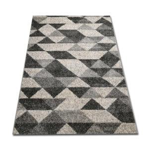szary dywan w trójkąty