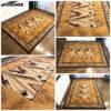 nowoczesny brązowy dywan
