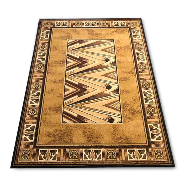 brązowy dywan piorun