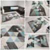 dywan turkusowy w trójkąty