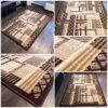 modny brązowy dywan