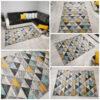 turkusowo żółty dywan