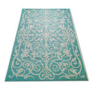 klasyczny dywan turkusowy