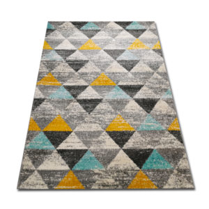 trójkąciki żółto turkusowe